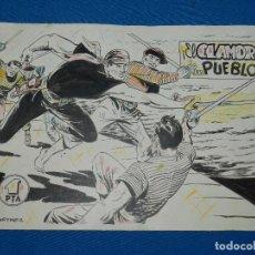 Cómics: PORTADA ORIGINAL DE MARTINEZ OSETE - EL HALCON NEGRO , EL DESENGAÑO DE HALCON NUM 23 , EDT MARCO. Lote 94370858