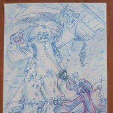 Cómics: DIBUJO ORIGINAL DON QUIJOTE DE LA MANCHA. Lote 94687339