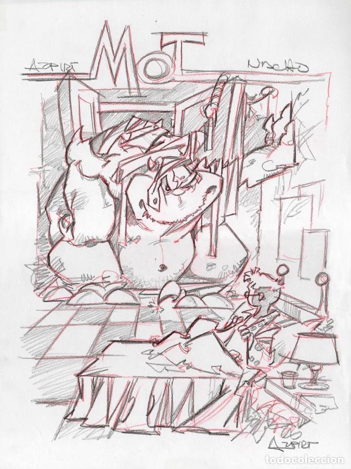 LOTE 2 MOT POR AZPIRI (Tebeos y Comics - Comics - Art Comic)