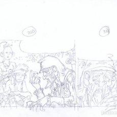 Cómics: LÁPICES DE CARLOS GIMÉNEZ PARA EL ÁLBUM LA PESTE ESCARLATA LOTE 1. Lote 94714083