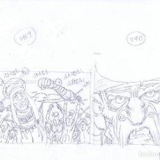 Cómics: LÁPICES DE CARLOS GIMÉNEZ PARA EL ÁLBUM LA PESTE ESCARLATA LOTE 2. Lote 94714343