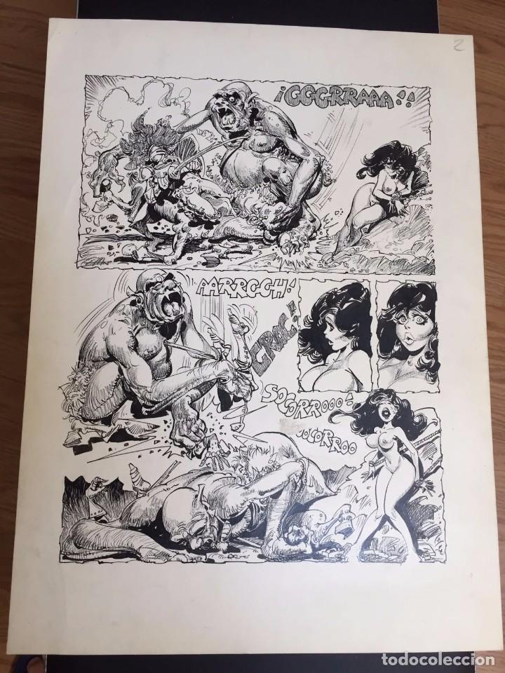 ALFONSO AZPIRI, PÁGINAS ORIGINALES. DEDICADO POR EL AUTOR AL DUEÑO ORIGINAL. (Tebeos y Comics - Art Comic)