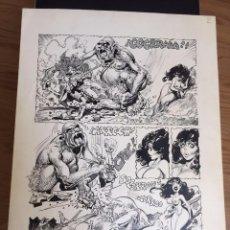 Cómics - Alfonso Azpiri, páginas originales. Dedicado por el autor al dueño original. - 96594187