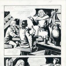 Cómics: FELIPE HERRANZ. PÁGINA ORIGINAL DE CÓMIC. AÑOS 70. Lote 96773351