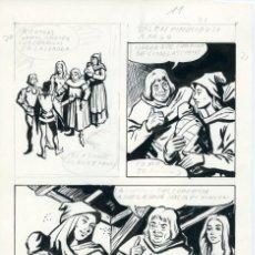 Cómics: FELIPE HERRANZ. PÁGINA ORIGINAL DE CÓMIC. AÑOS 70. Lote 96773411