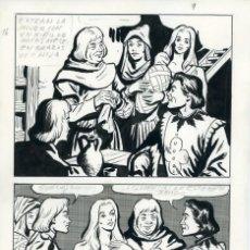 Cómics: FELIPE HERRANZ. PÁGINA ORIGINAL DE CÓMIC. AÑOS 70. Lote 96773455