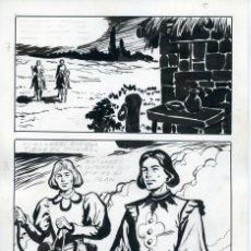 Cómics: FELIPE HERRANZ. PÁGINA ORIGINAL DE CÓMIC. AÑOS 70. Lote 96773471