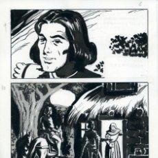 Cómics: FELIPE HERRANZ. PÁGINA ORIGINAL DE CÓMIC. AÑOS 70. Lote 96773511