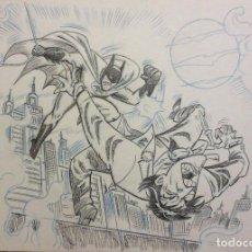 Cómics: DIBUJO ORIGINAL BATMAN JOKER. Lote 99102015