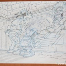 Cómics: DIBUJO ORIGINAL DON MIKI DISNEY. Lote 101202443