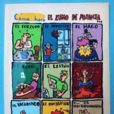 Cómics: DIBUJO ORIGINAL COLOR, COMO SE HACE EL ZUMO DE NARANJA, MAURO ENTRIALGO , 1988 , P. Lote 102713459