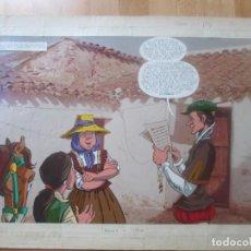 Cómics: DIBUJO ORIGINAL DON QUIJOTE DE LA MANCHA, PINTADO A MANO, FONDO FOTOGRAFIA, TOMO 5 - PAG.20 - 21. Lote 102730055