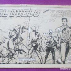 Cómics: DIBUJO ORIGINAL PLUMILLA, EL PEQUEÑO LUCHADOR, EL DUELO, Nº163, M. GAGO, PORTADA + 10 HOJAS. Lote 102742639