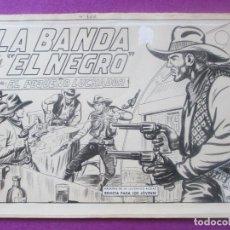 Cómics: DIBUJO ORIGINAL PLUMILLA, EL PEQUEÑO LUCHADOR, LA BANDA DE EL NEGRO, Nº165, GAGO, PORTADA + 10 HOJAS. Lote 102742919