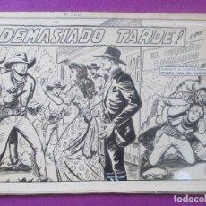 Cómics: DIBUJO ORIGINAL PLUMILLA, EL PEQUEÑO LUCHADOR, ¡DEMASIADO TARDE!, Nº166, GAGO, PORTADA + 10 HOJAS. Lote 102743027