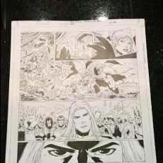Cómics: COMIC PAGINA ORIGINAL RED SONJA WRATH OF THE GODS NUMERO 3 PAGINA 6 WALTER GEOVANI FIRMADO 43X29. Lote 103077311