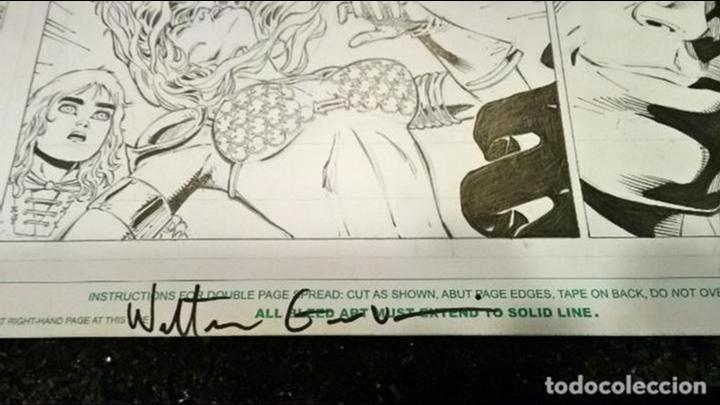 Cómics: comic pagina original red sonja wrath of the gods numero 3 pagina 6 walter geovani firmado 43x29 - Foto 3 - 103077311