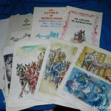 Cómics: (S1) LIBRO ORIGINAL DIBUJADO POR LLUIS J SEUBA - UN COTXE DE BARCELONA , TODO ORIGINAL. Lote 103483219