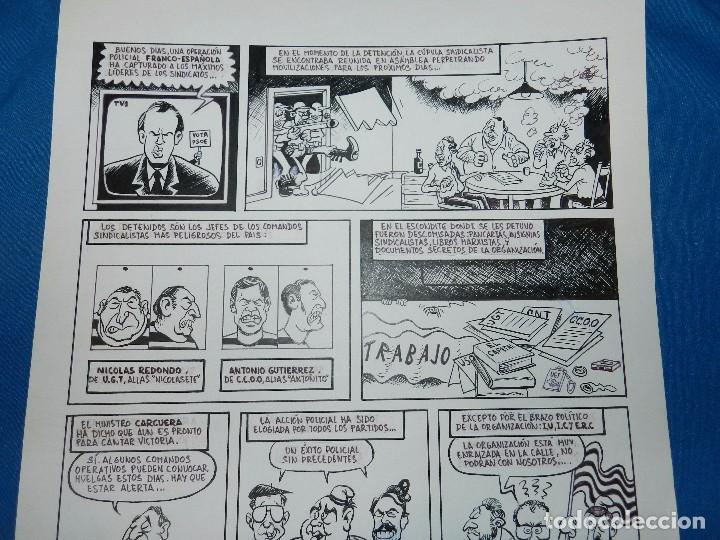 Cómics: (D1) DIBUJO ORIGINAL DAVID 92 - DIBUJO POLITICO PSOE - UNDERGROUND , 42 X 29'5 CM, BUEN ESTADO - Foto 2 - 103522131