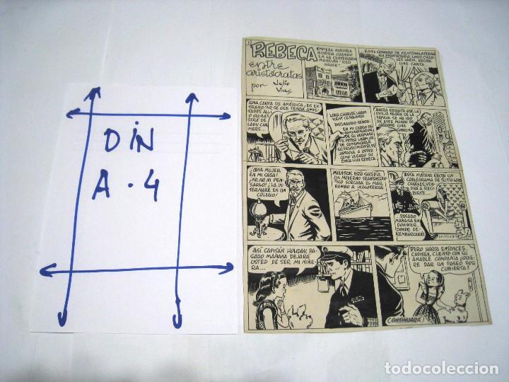 Cómics: 5 PAGINAS Dibujo original de: JULIO VIVAS: REBECA - Foto 2 - 103639915