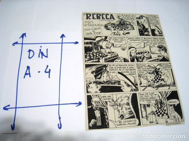 Cómics: 5 PAGINAS Dibujo original de: JULIO VIVAS: REBECA - Foto 3 - 103639915