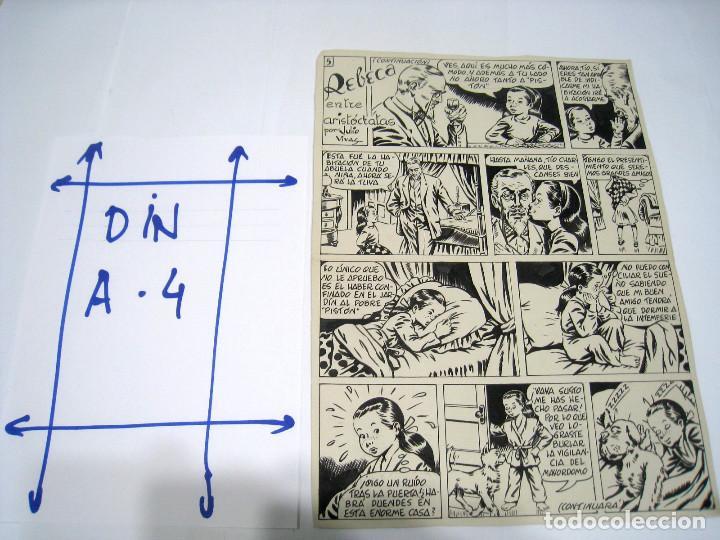 Cómics: 5 PAGINAS Dibujo original de: JULIO VIVAS: REBECA - Foto 4 - 103639915