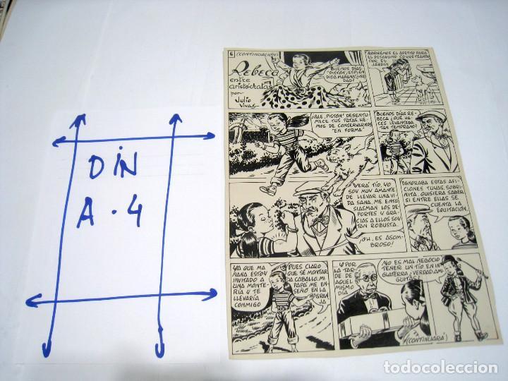 Cómics: 5 PAGINAS Dibujo original de: JULIO VIVAS: REBECA - Foto 5 - 103639915