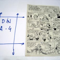 Cómics: DIBUJO ORIGINAL PAGINA EDITORIAL MARCO, CUBERO. Lote 103641147