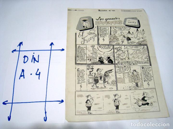 DIBUJO ORIGINAL PAGINA LA RISA EDITORIAL MARCO, BONO (Tebeos y Comics - Art Comic)