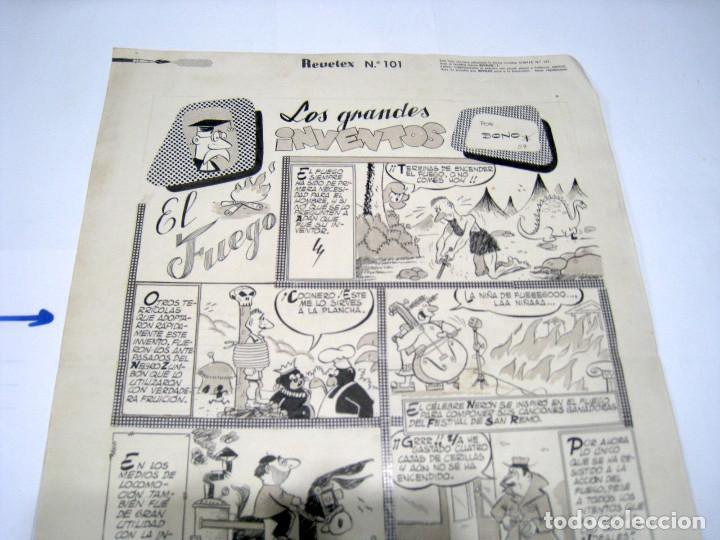 Cómics: DIBUJO ORIGINAL PAGINA LA RISA EDITORIAL MARCO, BONO - Foto 3 - 103641731