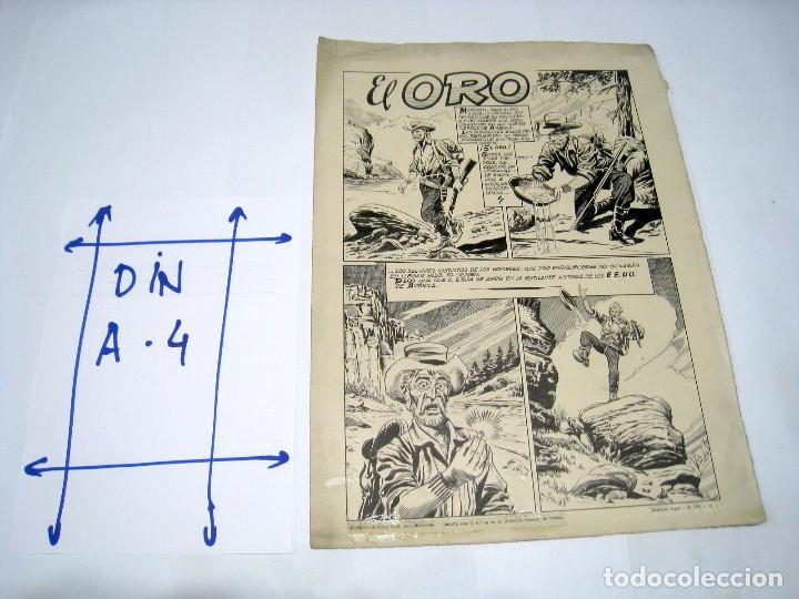 DIBUJO ORIGINAL PAGINA DE BIOSCA, TITULADA EL ORO (Tebeos y Comics - Art Comic)