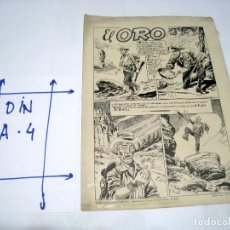 Cómics: DIBUJO ORIGINAL PAGINA DE BIOSCA, TITULADA EL ORO. Lote 103642127