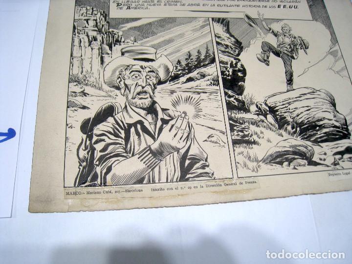 Cómics: DIBUJO ORIGINAL PAGINA DE BIOSCA, TITULADA EL ORO - Foto 2 - 103642127