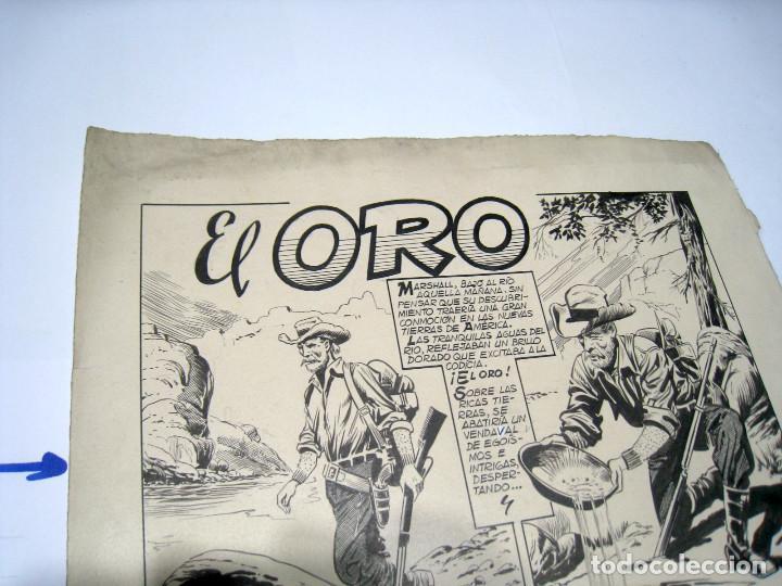 Cómics: DIBUJO ORIGINAL PAGINA DE BIOSCA, TITULADA EL ORO - Foto 3 - 103642127