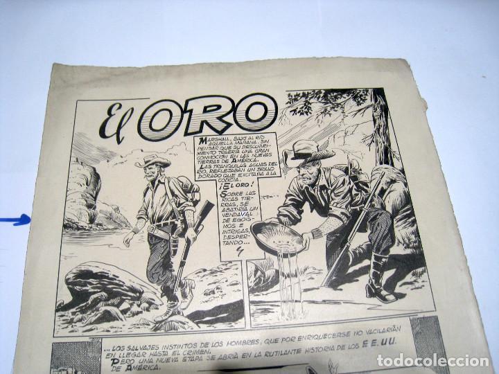 Cómics: DIBUJO ORIGINAL PAGINA DE BIOSCA, TITULADA EL ORO - Foto 4 - 103642127