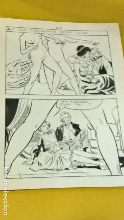 COMIC DIBUJO ORIGINAL VLADIMIRO MISSAGLIA ULTRATUMBA 9 TINTA CHINA CARTONCILLO 17,5 X 25 EROTICO (Tebeos y Comics - Art Comic)