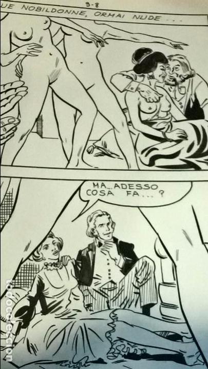 Cómics: comic dibujo original vladimiro missaglia ultratumba 9 tinta china cartoncillo 17,5 x 25 erotico - Foto 2 - 103688419