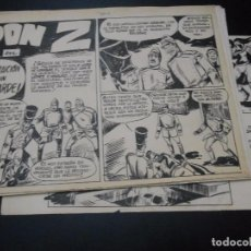 Cómics: DON Z - DIBUJO ORIGINAL - - NUMERO 46 - LAS 10 PAGINAS INTERIORES - TAMAÑO 41 X 30 CMS. Lote 103909963