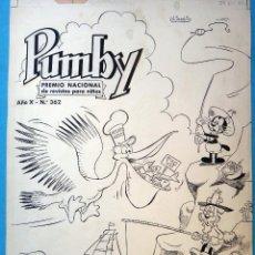 Cómics: DIBUJO ORIGINAL PLUMILLA, SANCHIS ,PUMBY NºS VARIOS , PORTADA Y 20 HOJAS O PLANCHAS , ORIGINAL , M1. Lote 103969499