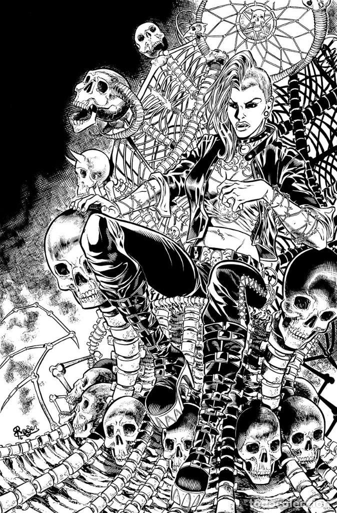GRIMM FAIRY TALES: APOCALYPSE # 2. PORTADA ORIGINAL DE ROGER BONET (Tebeos y Comics - Art Comic)