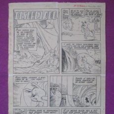 Cómics: DIBUJO ORIGINAL PLUMILLA, DESOREJADO, PUMBY Nº15, 1961, 4 HOJAS, NIN, OR.5. Lote 104086595