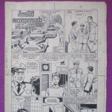 Cómics: DIBUJO ORIGINAL PLUMILLA, AMISTAD RECOMPENSADA, 1960, LUIS CODI, JAIMITO Nº32, 6 HOJAS, OR.8. Lote 104087771