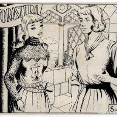 Cómics: PORTADA ORIGINAL LA FORASTERA. Lote 105272519