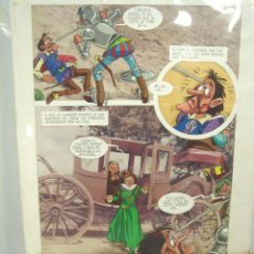 Cómics: PAGINA ILUSTRACION ORIGINAL DEL AUTOR-DON QUIJOTE DE LA MANCHA 1971 -MARKETING IBERICA DIBUJO COMIC. Lote 105429711