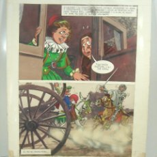 Cómics: PAGINA ILUSTRACION ORIGINAL DEL AUTOR-DON QUIJOTE DE LA MANCHA 1971-MARKETING IBERICA DIBUJO COMIC A. Lote 105431363