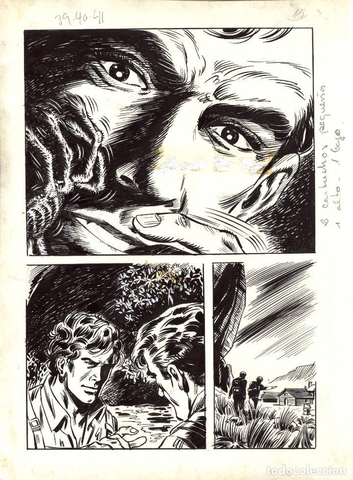 PAGINA ORIGINAL DE ENJEU TRAGIQUE (1970S) PAGINA 15. AUTOR IGNASI CALVET. (Tebeos y Comics - Art Comic)