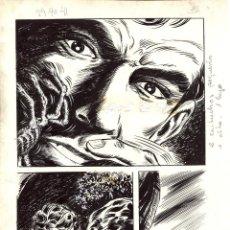 Cómics: PAGINA ORIGINAL DE ENJEU TRAGIQUE (1970S) PAGINA 15. AUTOR IGNASI CALVET.. Lote 106658015