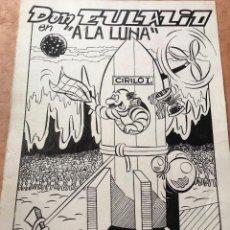 Cómics: DON EULALIO A LA LUNA PORTADA ORIGINAL FIRMADA A. PUEYO NO IBÁÑEZ MUY RARO. Lote 106687763