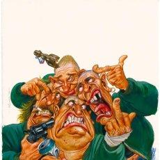 Cómics: SEBASTIAN KRUGER - PINTURA ORIGINAL - SEBASTIAN KRÜGER - FIRMADO - TITULO :FRÜHER WAR ALLES BESSER!. Lote 107098503