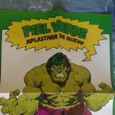 Cómics: POSTER HULK FORUM, PIEL VERDE APLASTAR DE NUEVO FORUM 1983. Lote 107486763